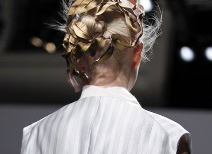 Gold leaf headdress Schiaparelli / Stephen Jones Millinery Spring 2014 Couture